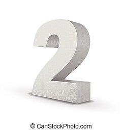 bianco, numero, struttura, due