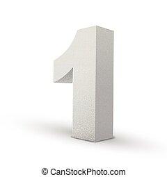 bianco, numero, struttura, uno