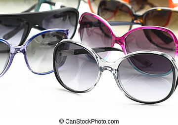 bianco, occhiali da sole, fondo, collezione