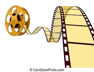 bianco, oro, striscia cinematografica