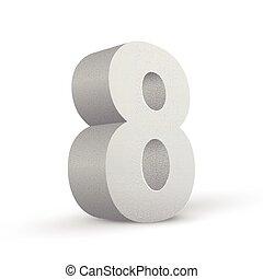 bianco, otto, numero, struttura