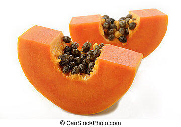 bianco, papaia, fondo