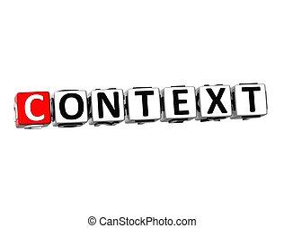 bianco, parola, fondo, context, 3d