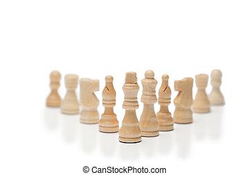 bianco, pezzi gioco scacchi