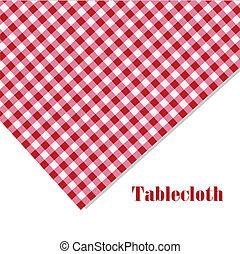 bianco, picnic, tovaglia, rosso