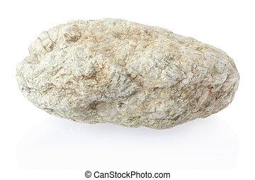 bianco, pietra, isolato, roccia