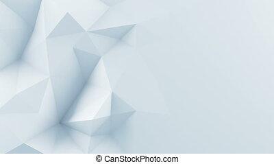 bianco, polygonal, forma, 3d, render, animazione, cappio