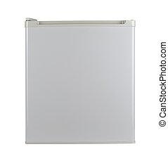 bianco, refrigerator., isolato, sopra, bianco, con, percorso tagliente