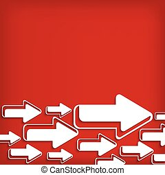 bianco rosso, fondo, freccia