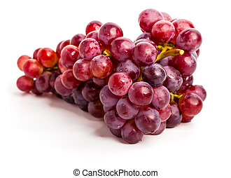 bianco rosso, uva, isolato
