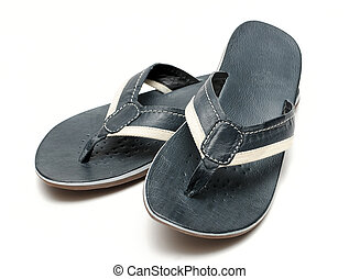 bianco, sandali, fondo, mens