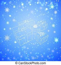 bianco, scatole, regalo