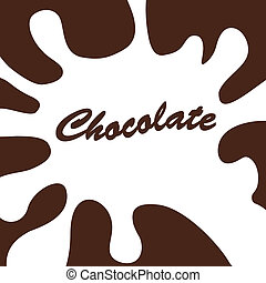 bianco, schizzo, cioccolato