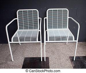bianco, sedia