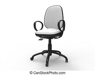 bianco, sedia, ufficio