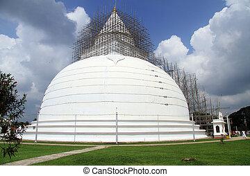 bianco, stupa