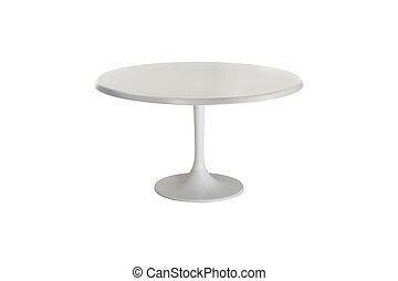 bianco, tavola, isolato, bianco, fondo