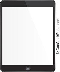 bianco, tavoletta, cuscinetto, ipad, -, stile, aggeggio,...