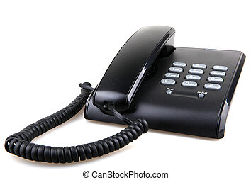 bianco, telefono, isolato