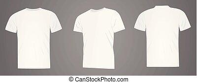 bianco, uomini, camicia t