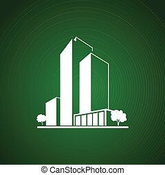 bianco, verde, sopra, appartamenti