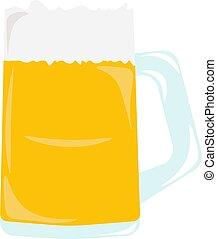 bianco, vettore, illustrazione, fondo., birra