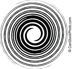 bianco, vettore, nero, spirale