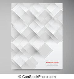 bianco, vettore, squares., astratto, backround