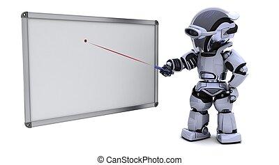bianco, vuoto, asse, robot