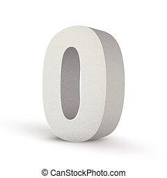 bianco, zero, struttura, numero