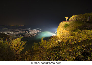 Biarritz in France at night