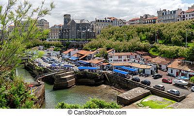 biarritz, prospekt, port, francja