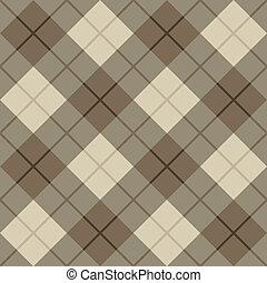 Bias Plaid in Brown and Beige - Vector seamless vector...