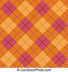 Bias Plaid in Orange and Pink