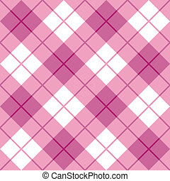Bias Plaid in Pink - Vector seamless 45-degree plaid pattern...