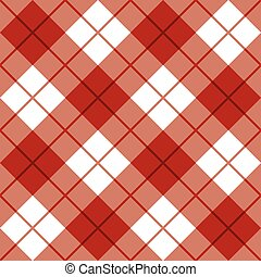 Bias Plaid in Red - Seamless diagonal plaid pattern in red...