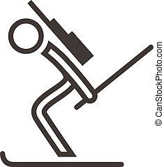 biathlon, アイコン