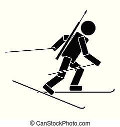 Biathlon. Flat icon