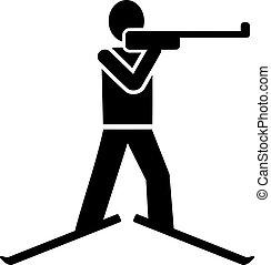 biathlon , pictogram