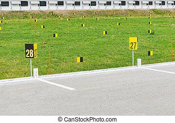 Biathlon shooting range.