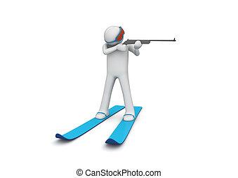 biathlonist, 2, viser