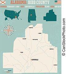 Bibb County in Alabama USA