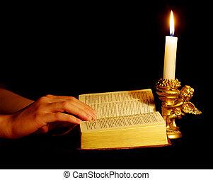 bibbia, mani