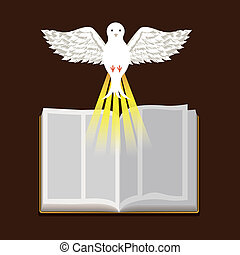 bibel, design, heilig