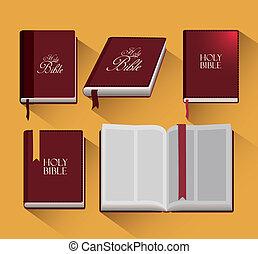 bibel, design, helig