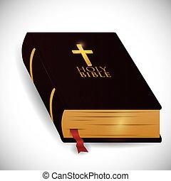 bibel, heilig, design.