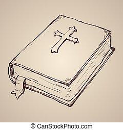 bibel, helig, design.