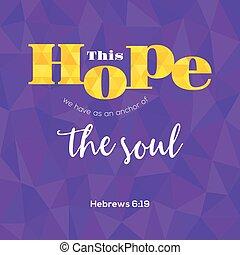 bibel, själ, polygon, hebrews, detta, typografiska, vers, ...