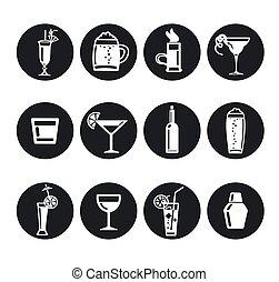 bibite, alcool, icone