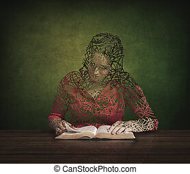Bible and restoration - A woman is restored by reading her...